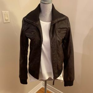 Hazel Pleather Jacket